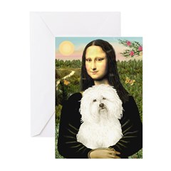 Mona and her Bolognese Greeting Cards (Pk of 10)