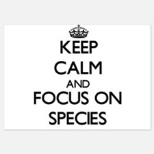 Keep Calm and focus on Species Invitations