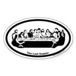 The Last Supper Oval Sticker