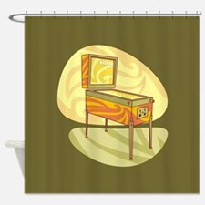 Pinball Shower Curtain