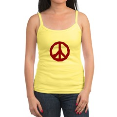 Ragged Red Peace Sign Spaghetti Tank