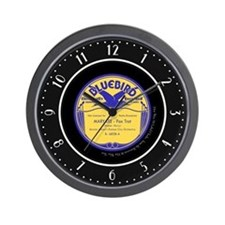 """""""Bluebird"""" Bennie Moten 78 Label Wall Clock"""
