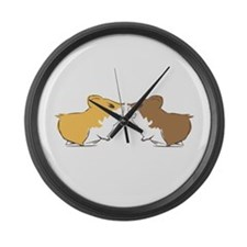 Hamster Kisses Large Wall Clock