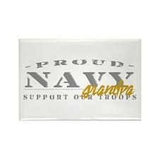 Proud Navy Grandpa (gold) Rectangle Magnet