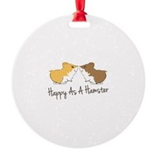 Happy Hamster Ornament