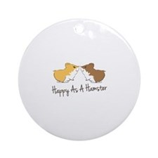 Happy Hamster Ornament (Round)