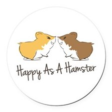 Happy Hamster Round Car Magnet