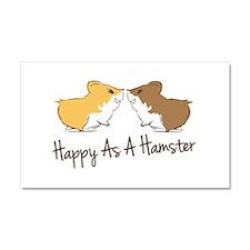 Happy Hamster Car Magnet 20 x 12