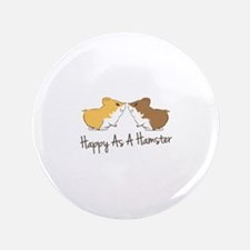 "Happy Hamster 3.5"" Button (100 pack)"