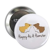 "Happy Hamster 2.25"" Button (100 pack)"