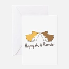 Happy Hamster Greeting Cards
