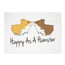 Happy Hamster 5'x7'Area Rug
