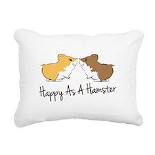 Happy Hamster Rectangular Canvas Pillow