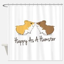 Happy Hamster Shower Curtain