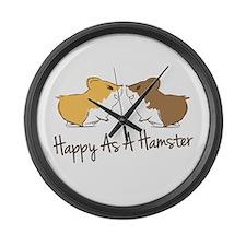 Happy Hamster Large Wall Clock