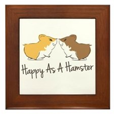 Happy Hamster Framed Tile