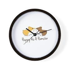 Happy Hamster Wall Clock