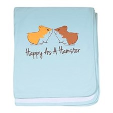 Happy Hamster baby blanket