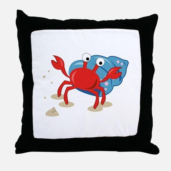 Dancing Crab Throw Pillow