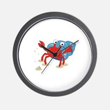 Dancing Crab Wall Clock