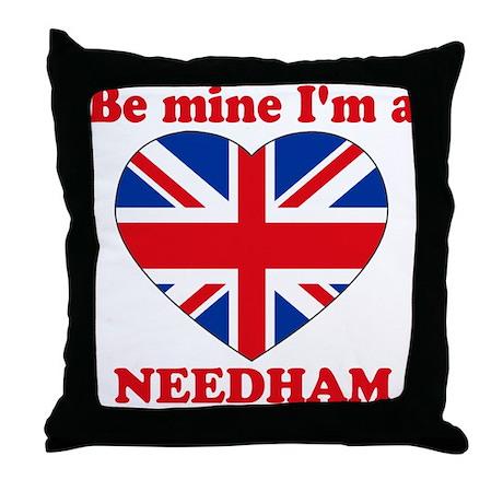 Needham, Valentine's Day Throw Pillow