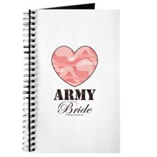 Army Bride Pink Camo Heart Journal