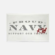 Proud Navy Kid (red) Rectangle Magnet
