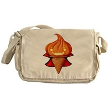 Vampire Pumpkin Ice Cream Messenger Bag