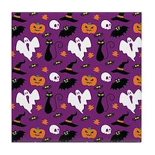 Halloween Pattern Tile Coaster