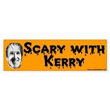 Scary With Kerry Halloween Bumper Bumper Sticker
