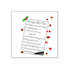 Genealogy Wish List Sticker