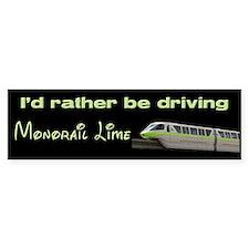 Monorail Lime Bumper Bumper Sticker