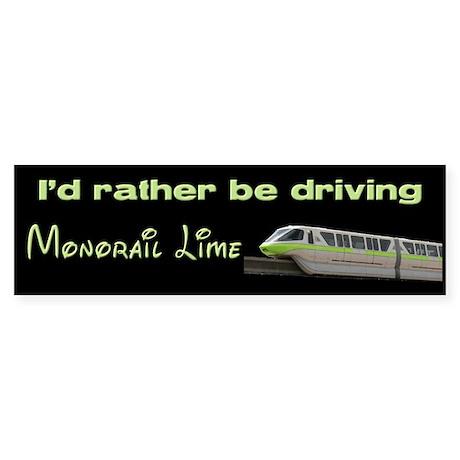 Monorail Lime Bumper Sticker