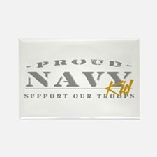 Proud Navy Kid (gold) Rectangle Magnet