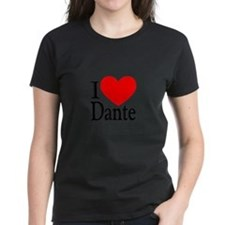 I Love Dante Women's Pastel T-Shirt