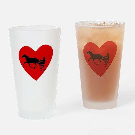 Harness Racing Heart Drinking Glass