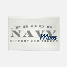 Proud Navy Mom (blue) Rectangle Magnet