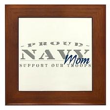 Proud Navy Mom (blue) Framed Tile