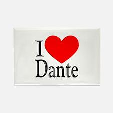 I Love Dante Rectangle Magnet