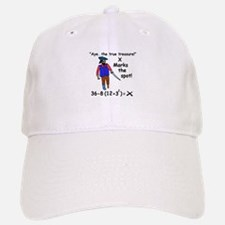 X MARKS THE SPOT OF MATH TREA Baseball Baseball Cap