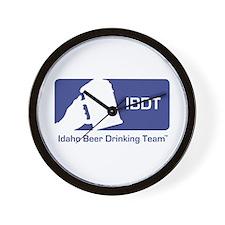 Idaho Beer Drinking Team Wall Clock