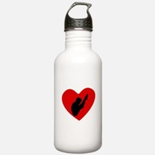 Diver Heart Water Bottle