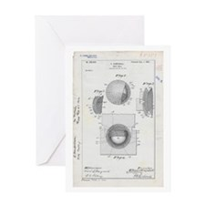 Golf Ball Patent Drawing Greeting Card