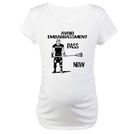 Lacrosse Defense Pass Maternity T-Shirt