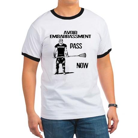 Lacrosse Defense Pass Ringer T