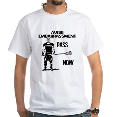 Lacrosse Defense Pass White T-Shirt