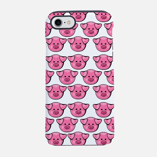 Cute Pink Pigs iPhone 7 Tough Case