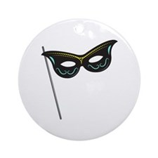Hand Held Mask Ornament (Round)