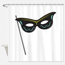 Hand Held Mask Shower Curtain
