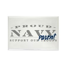Proud Navy Parent (blue) Rectangle Magnet